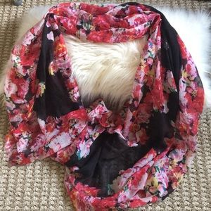 4 for $25 Floral infinity scarf